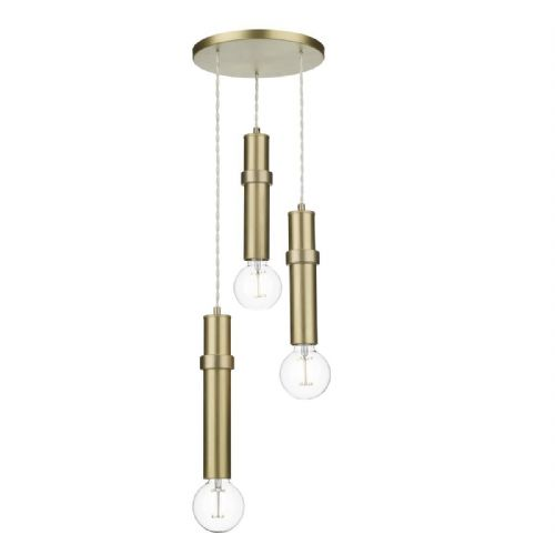 Adling 3 Light Pendant Butter Brass ADL0340 (7-10 day Delivery) (Double Insulated)